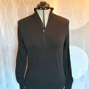 Black Champion quarter-zip pullover workout top